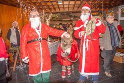 Syr Henry und der Nikolaus in der Zufluchtgemeinde (Foto: Ralf Salecker)