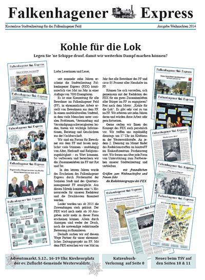 Titelseite Falkenhagener Express Weihnachten 2014
