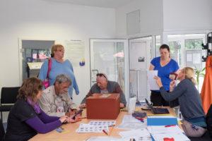 Wahlbüro in der Kiezstube