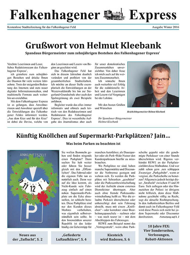 Falkenhagener Express Ausgabe Winter 2016