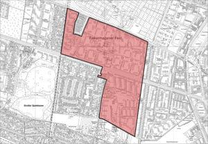 Karte: Quartiersmanagement im Falkenhagener Feld Ost
