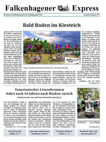 Falkenhagener Express Sommerausgabe 2017