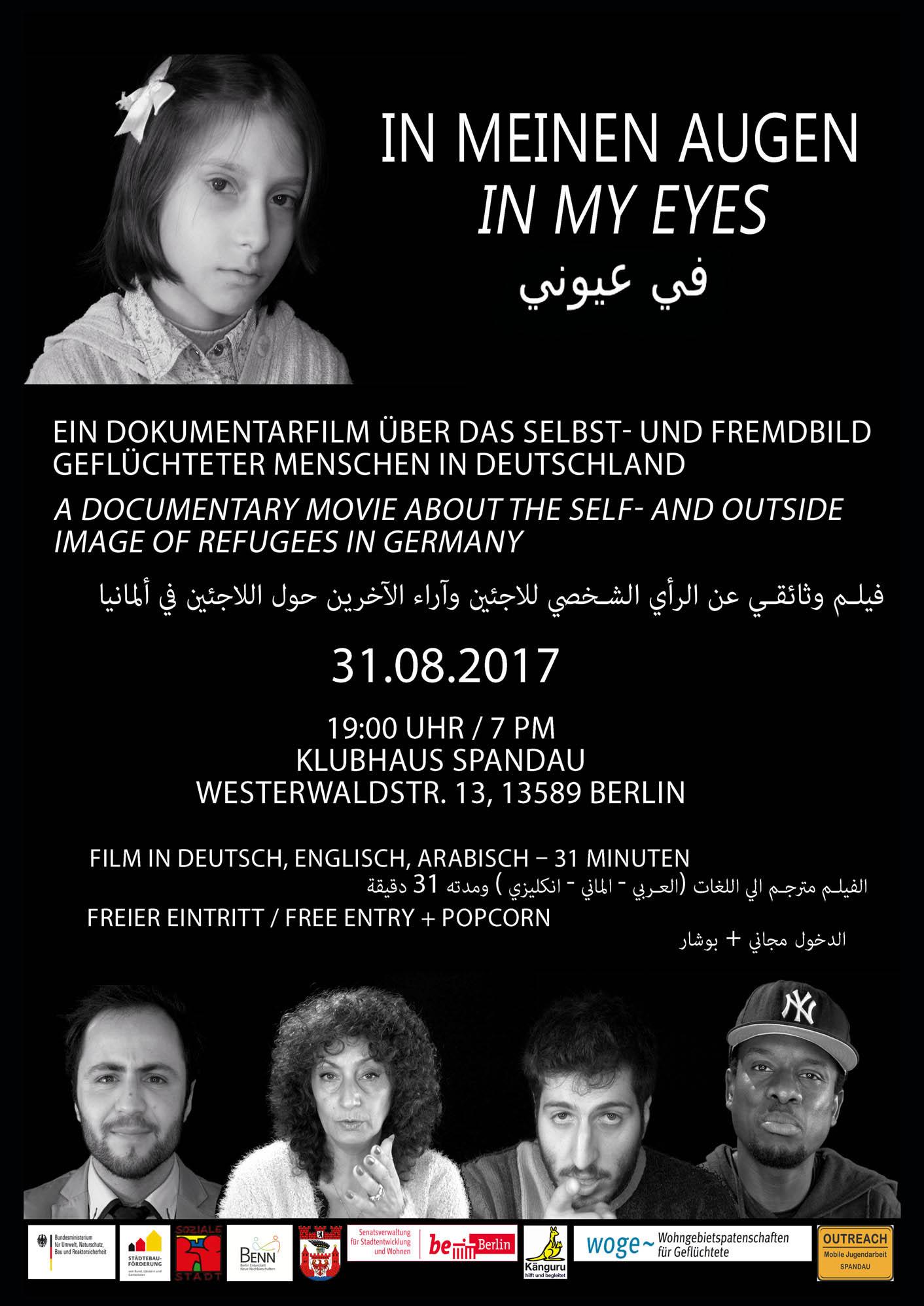 """""""In meinen Augen"""" - Filmvorführung im Klubhaus Spandau"""
