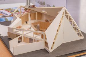 Gewinnerentwurf des Architekturwettbewerbs zum zukünftigen Stadtteilzentrum im Falkenhagener Feld Ost (Foto: Ralf Salecker)