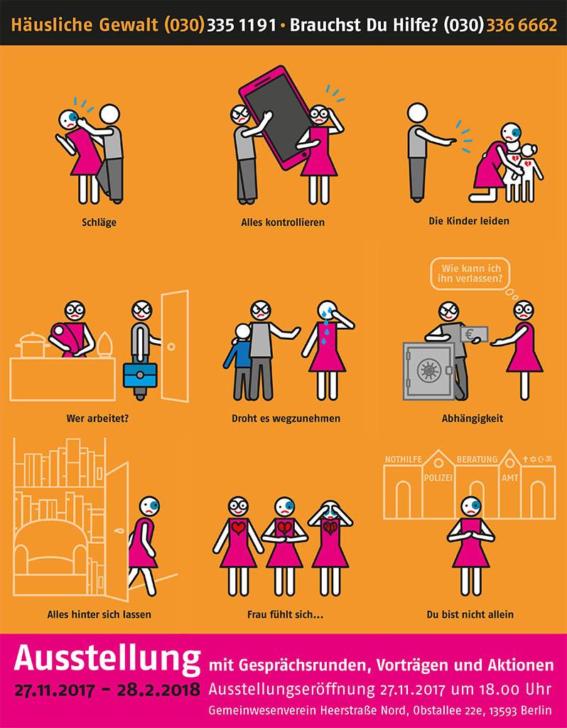 Ausstellung & Veranstaltungsreihe gegen häusliche Gewalt