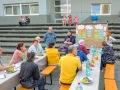 Gemeinsames Grillen der Quartiersräte am Westerwaldplatz (Foto: Ralf Salecker)