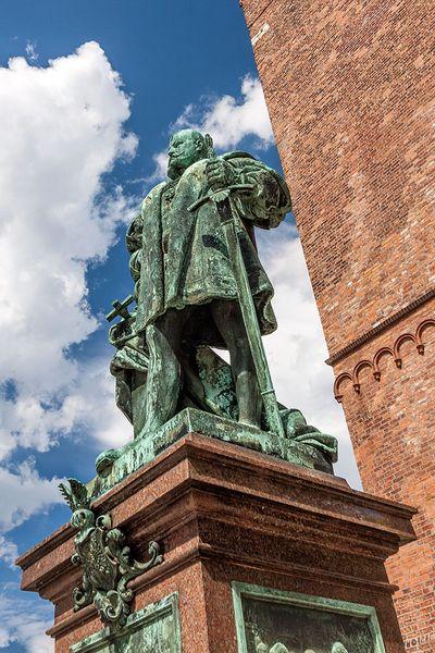 Kurfürst Joachim II. auf dem Reformationsplatz (Foto: Ralf Salecker)
