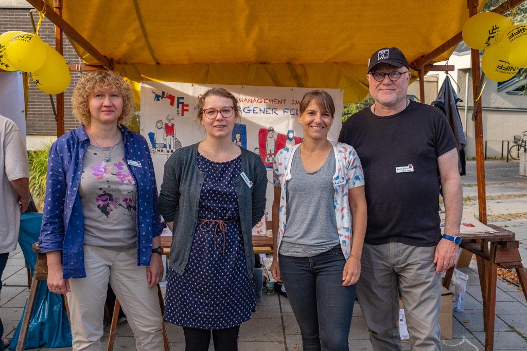 Das QM-Team Falkenhagener Feld Ost v.l.n.r. Elena Melichowa-Haß, Bianka Filehr, Nicole Heger, Karl-Heinz Fricke (Foto: Ralf Salecker)