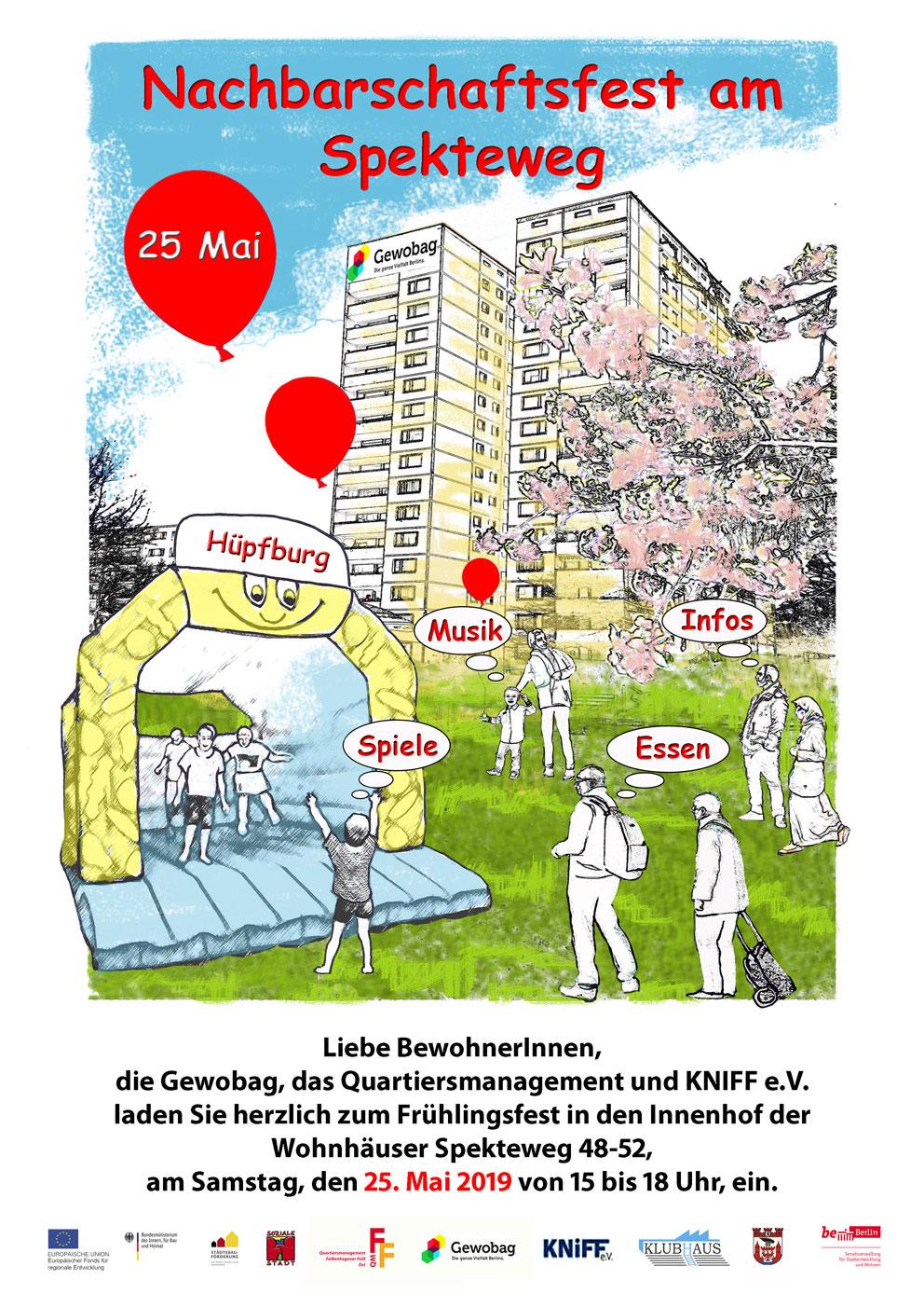 Nachbarschaftsfest am 25. Mai von 15 bis 18 Uhr im Spekteweg