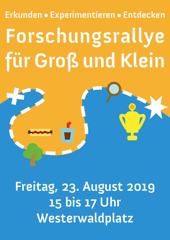 """Forschungsrallye auf dem Westerwaldplatz """"Wissenschaft für Alle"""""""