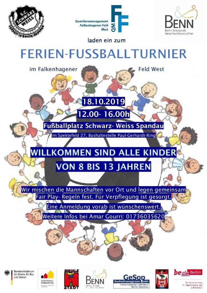 Ferien-Fußballturnier im Falkenhagener Feld West am 18. Oktober
