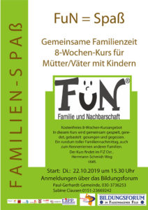 Kostenfreier FuN Familie Kurs im Herbst 2019
