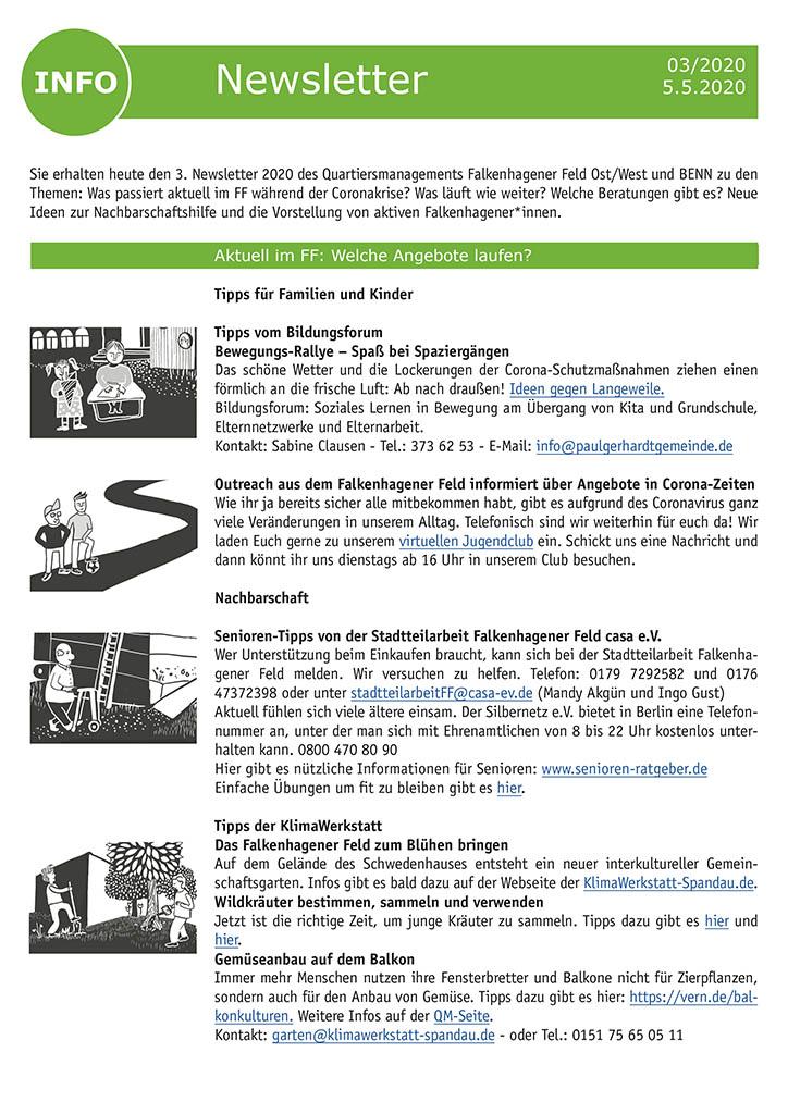 QM-Newsletter Nr. 3 - Informationen auch während der Corona-Pandemie