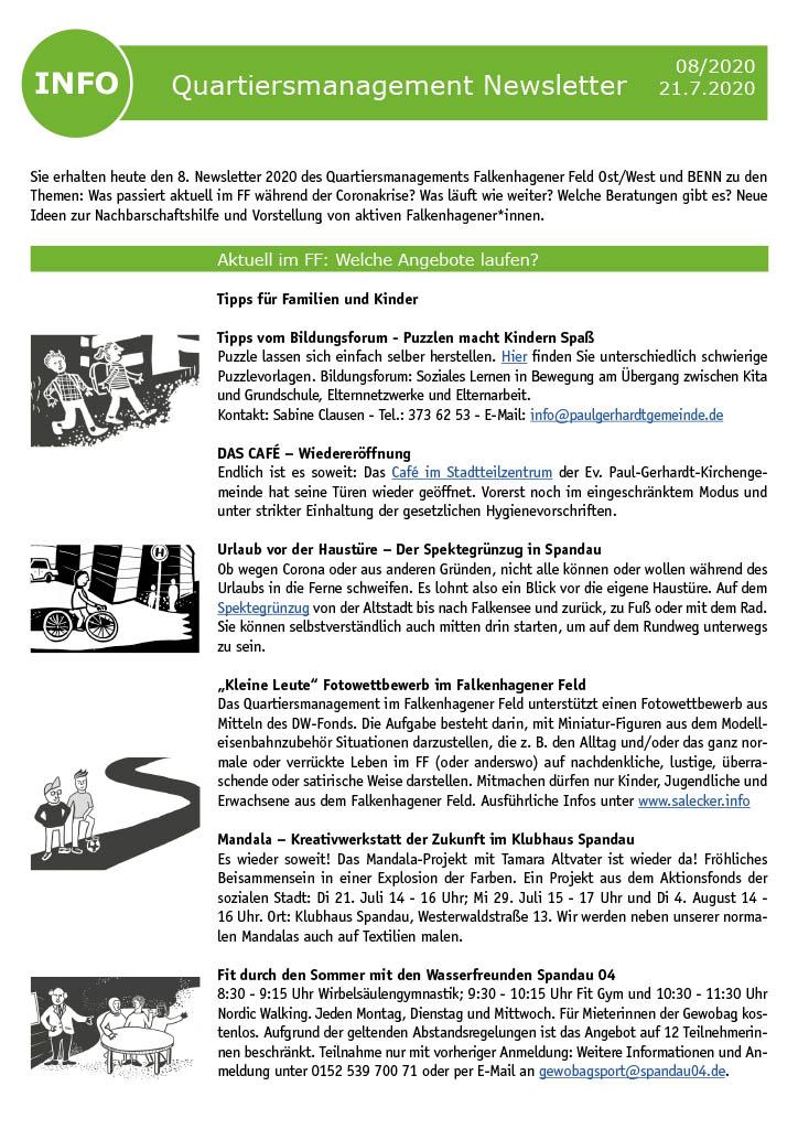 QM-Newsletter Nr. 8 – Informationen auch während der Corona-Pandemie