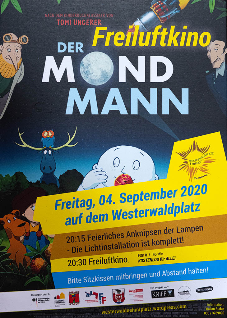 Open-Air-Kino am Westerwaldplatz 2020