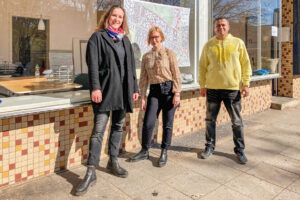 Das neue QM-Team: Susen Engel, Emilia Wojtkowska und Hamdan Qeshta (Foto: QM FFO)